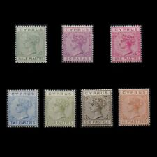 CYPRUS 1892/94 VICTORIA COMPLETE MH SET DIE II