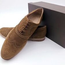 cb4d500e8 Louis Vuitton Men Tan Nubuck Leather Formal Brogue Dress Shoe Size 44 UK10  US11