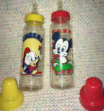New listing Vintage Evenflo Disney Baby Bottles 8 Oz. ! Mickey Mouse,Donald Duck