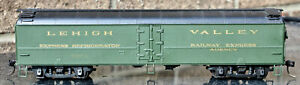 HO Brass Lehigh Valley 52-ft Roundtop Steel Express Reefer, Pro Paint & Decals
