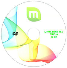 """Operating System - Linux Mint 19.3 """"TRICIA"""" Cinnamon - 32 bit Live/Install Disc"""