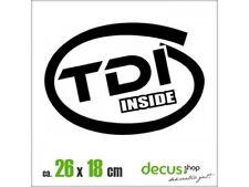 TDI INSIDE 1971 XL 2474 // Sticker JDM Aufkleber Frontscheibe