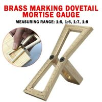 1x Handle Woodworking Brass Marking Dovetail Mortise Gauge Wood Joint Gauge Rule