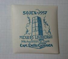 1957 Sojex Mexicos Linbergh 30th Anniversary of Flight Souvenir Ad