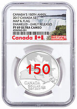 2017 Canada 150th Home/Native Land 3/4oz Silver Enameled NGC PF69 UC ER SKU48910