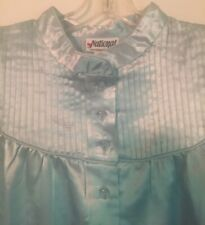 NATIONAL SATIN BLUE NIGHT GOWN   Size 1X.  NWT