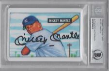 MICKEY MANTLE BAS BECKETT CERTIFIED SIGNED 1951 BOWMAN ROOKIE PORCELAIN CARD