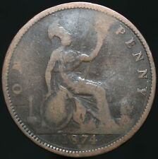 1874 H | Victoria One Penny | Bronze | Coins | KM Coins