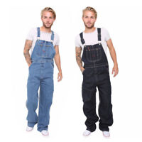 Men Denim Bib And Brace Overalls Painters Coveralls Pro Work Engineer Dungarees