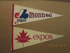 MLB Montreal Expos Rare Defunct 1St Year & Vintage 1990's Logo Baseball Pennants