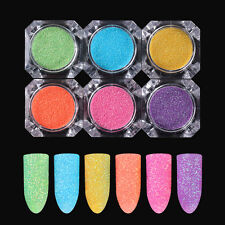 Nail Art Candy Glitter Powder Dust BORN PRETTY Rainbow Sandy Decoration 6 Colors