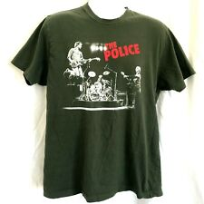 The Police 2007 2008 Band Concert Tour Green Graphic T-Shirt Size Large Anvil