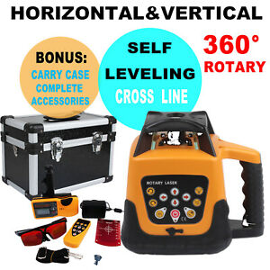 360° Rotary Rotating Laser Level Automatic Leveling 500m Range Remote Control