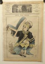 Caricature, Journal l'éclipse, 1876, Gill, 2 Janvier 1876