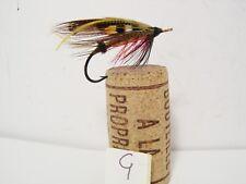 Vintage Salmon Gut Eye Fly Japanned Hook  Size 2