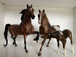 Breyer Lot All Glory Rejoice Running Mare And Cupid Nursing Foal #3