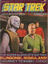 Star Trek Giant Poster Book Magazine #4 (1976) Paradise Press Fine-