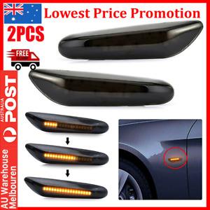 2PCS Dynamic LED Side Indicator Lights For BMW X1 X3 E46 E60 E87 E90 E92