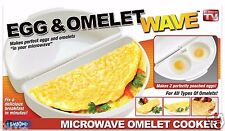 Egg & Omelet Wave Microwave Cooker Breakfast Poached As Seen On TV Durable & NEW