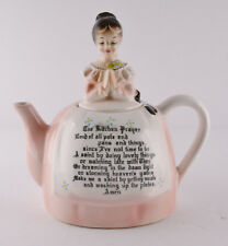 "Prayer Lady Pink Enesco Teapot (6 1/4"" Tall)"