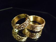 NEW 2018 24K SOLID FINE GOLD BULLION WEDDING SET JOEY NICKS ANARCHY JEWELRY #A