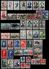 L'ANNÉE 1958 complète, Oblitérés = Cote 48 € / Lot Timbres France