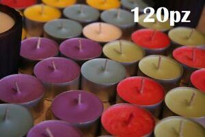 Set 120 Pezzi Candele Colorate Assortite Profumate Fragranza Tealight Lumini moc
