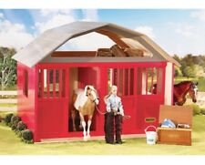 Breyer traditional or classic size painted deluxe red wood stable barn  307 <><
