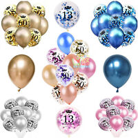 Silver Rose Gold Age Birthday Balloons 1st 18th 21st 30th 40th Birthday Decor UK