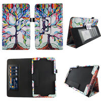 Tablet Case Tree Pattern Fit 2015  Amazon Fire HD 10 10.1 Inch Cover ID Slots
