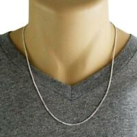 Solid 925 Sterling Silver Cuban Curb 2mm Link Italy-Made Men's Chain Necklace