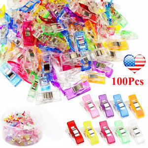100PCS Colorful Wonder Clips Sewing Clips Clamps for Quilting Binding Knitting