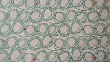 Scribbled Circles Stitched In Aqua Multi Dots Upholstery Fabric