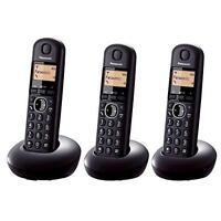 Panasonic KX-TGB213EB Triple Digital Cordless Phone Long Life Battery 16Hr - New