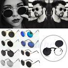 Vintage Men Women Steampunk Goggles Round Metal Flip Up Sunglasses Eyewear Lens