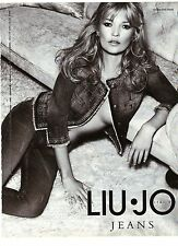 PUBLICITE ADVERTISING 2007  LIU-JO jeans porté par Kate Moss