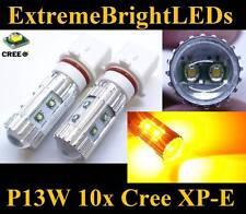 TWO Amber Orange 50W P13W 10x Cree XP-E LED Fog Daytime Running Lights bulbs