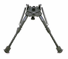 "TMS Shooting Bipod Bi-pod 6""-9"" Pivot Swivel Top w/ Sling Swivel Stud Adapter"