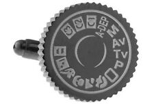 Gunmetal Toned Camera Setting Dial Cufflinks