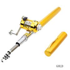 Quality Mini Portable Pocket Fish Pen Shape Aluminum Alloy Fishing Rod Pole Reel