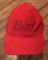 Bud Racing NASCAR Racing Forever Red NASCAR Strapback Baseball Cap Trucker Hat