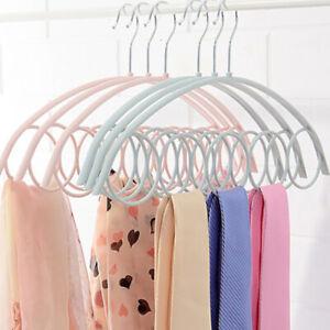 1 Piece Scarf Hanger For Scarves Plastic Circles Neck Tie Scarf Hanger Organi^BI