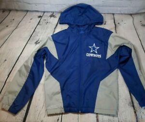Vintage Dallas Cowboys Apex One Windbreaker Jacket Full Zip Youth Small? 90s NFL