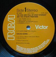 David Bowie Ziggy Stardust Vinyl record LP 1972 Original UK pressing BGBS 08641E