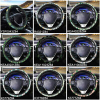 15 inch Car Steering Wheel Cover Universal Fit Fashion Cactus Printed for Women