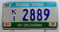 """USA Nummernschild aus Oklahoma """"KIOWA TRIBE"""" Indianerschild.8884."""