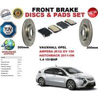 FOR VAUXHALL OPEL AMPERA1.4 EV 150 2012- 300MM FRONT BRAKE DISCS SET + PADS KIT
