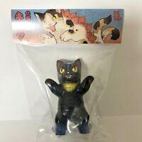 Konatsuya NEGORA Black Fox Kitsune Ver Sofubi Sofvi Cute Figure Konatsu Japan
