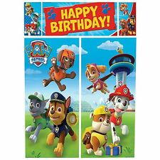 Paw Patrol Puppy Pets Birthday Scene Setter Wall Party Banner Decoration Kit Jr