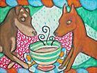 Miniature Pinscher Coffee Art Print Signed by Artist KSams Painting 5 x 7 minpin
